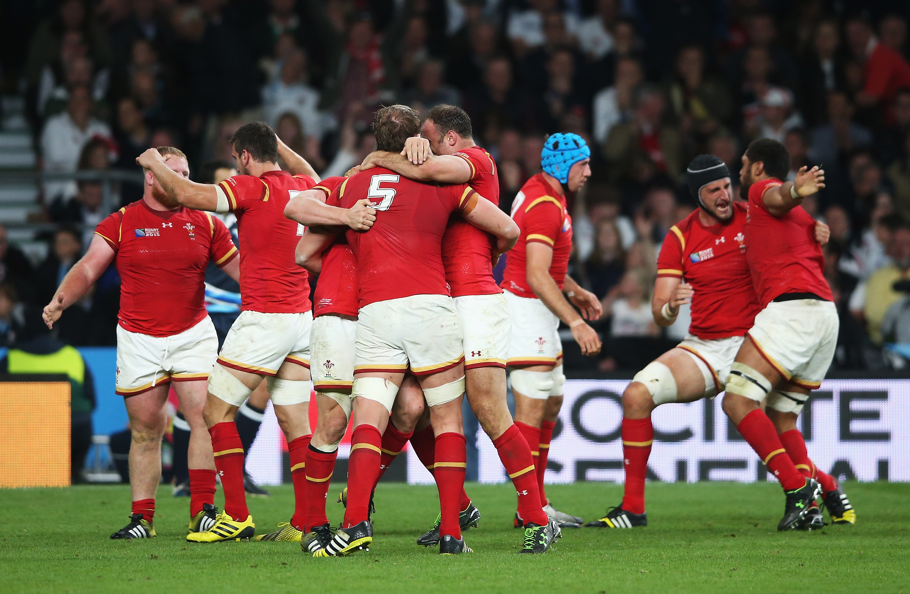 during the 2015 Rugby World Cup Pool A match between England and Wales at Twickenham Stadium on September 26, 2015 in London, United Kingdom.