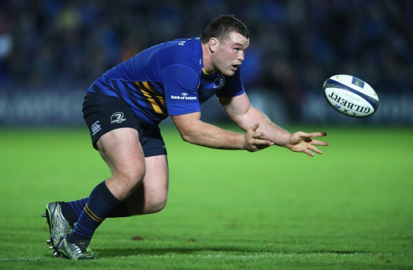 DUBLIN, IRELAND - OCTOBER 19: Jack McGrath of Leinster catches the ball during the European Rugby Champions Cup match between Leinster and Wasps at the RDS Arena on October 19, 2014 in Dublin, Ireland. (Photo by David Rogers/Getty Images)