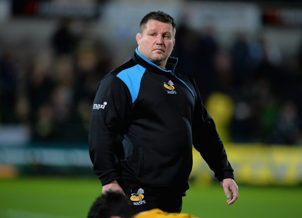 NORTHAMPTON, ENGLAND - MARCH 27: Dai Young, Director of Rugby of Wasps during the Aviva Premiership match between Northampton Saints and Wasps at Franklin's Gardens on March 27, 2015 in Northampton, England. (Photo by Tony Marshall/Getty Images)