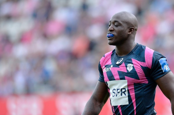 PARIS, FRANCE - AUGUST 23: Djibril Camara of Stade Francais reacts during the Top 14 game between Stade Francais and Pau at Stade Jean Bouin on August 23, 2015 in Paris, France. (Photo by Aurelien Meunier/Getty Images)