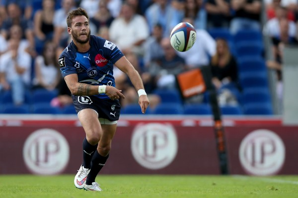 BORDEAUX, FRANCE - SEPTEMBER 06: Benoit Paillaugue of Montpellier during the French Rugby League Top 14 between Union Bordeaux Begles and Montpellier on September 6, 2015 in Bordeaux, France. (Photo by Romain Perrocheau/Getty Images)
