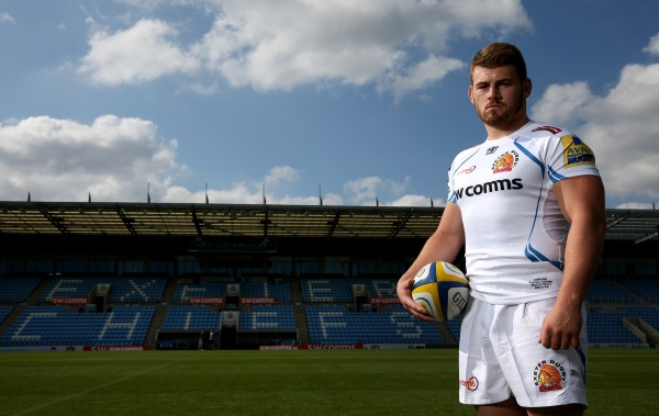during the photocall at Sandy Park on September 8, 2015 in Exeter, England. (Photo by Dan Mullan/Getty Images)