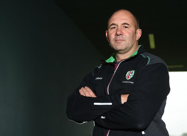 SUNBURY, ENGLAND - SEPTEMBER 16: Head coach of London Irish Tom Coventry poses for photos during the London Irish media session at Hazelwood Centre on September 16, 2015 in Sunbury, England. (Photo by Tom Dulat/Getty Images)