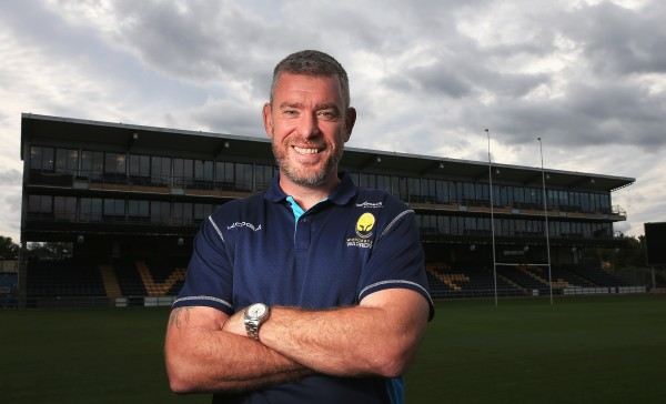 WORCESTER, ENGLAND - SEPTEMBER 23: Dean Ryan, Director of Rugby of Worcester Warriors poses for a portrait at the photocall held at Sixways Stadium on September 23, 2015 in Worcester, England. (Photo by Matthew Lewis/Getty Images)