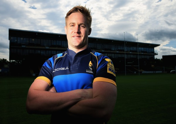 WORCESTER, ENGLAND - SEPTEMBER 23: Gerrit-Jan van Velze of Worcester Warriors poses for a portrait at the photocall held at Sixways Stadium on September 23, 2015 in Worcester, England. (Photo by Matthew Lewis/Getty Images)