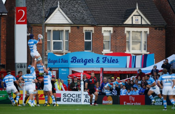 GLOUCESTER, ENGLAND - SEPTEMBER 25: A general view of Kingsholm during the 2015 Rugby World Cup Pool C match between Argentina and Georgia at Kingsholm Stadium on September 25, 2015 in Gloucester, United Kingdom. (Photo by Stu Forster/Getty Images)