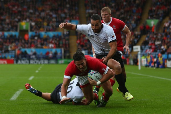 during the 2015 Rugby World Cup Pool D match between Canada and Romania at Leicester City Stadium on October 6, 2015 in Leicester, United Kingdom.