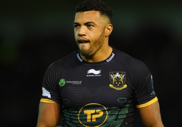 NORTHAMPTON, ENGLAND - NOVEMBER 14: Luther Burrell of Northampton looks on during the European Rugby Champions Cup Pool 3 match between Northampton Saints and Scarlets at Franklin's Gardens on November 14, 2015 in Northampton, England. (Photo by Shaun Botterill/Getty Images)