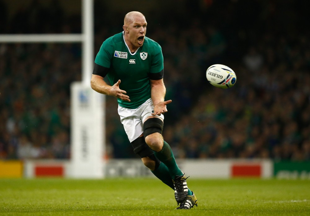CARDIFF, WALES - OCTOBER 11:  Ireland captain Paul O' Connell in action during the 2015 Rugby World Cup Pool D match between France and Ireland at Millennium Stadium on October 11, 2015 in Cardiff, United Kingdom.  (Photo by Stu Forster/Getty Images)