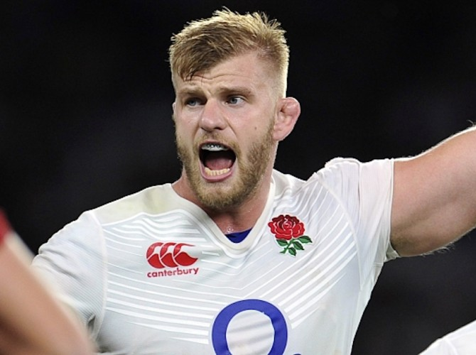 Strictly Editorial Use Only - No Merchandising. Mandatory Credit: Photo by JMP/REX Shutterstock (4962910ar) George Kruis of England England v France, United Kingdom - 15 Aug 2015