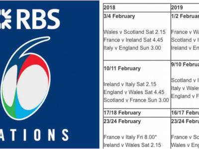 six nations fixtures 2019
