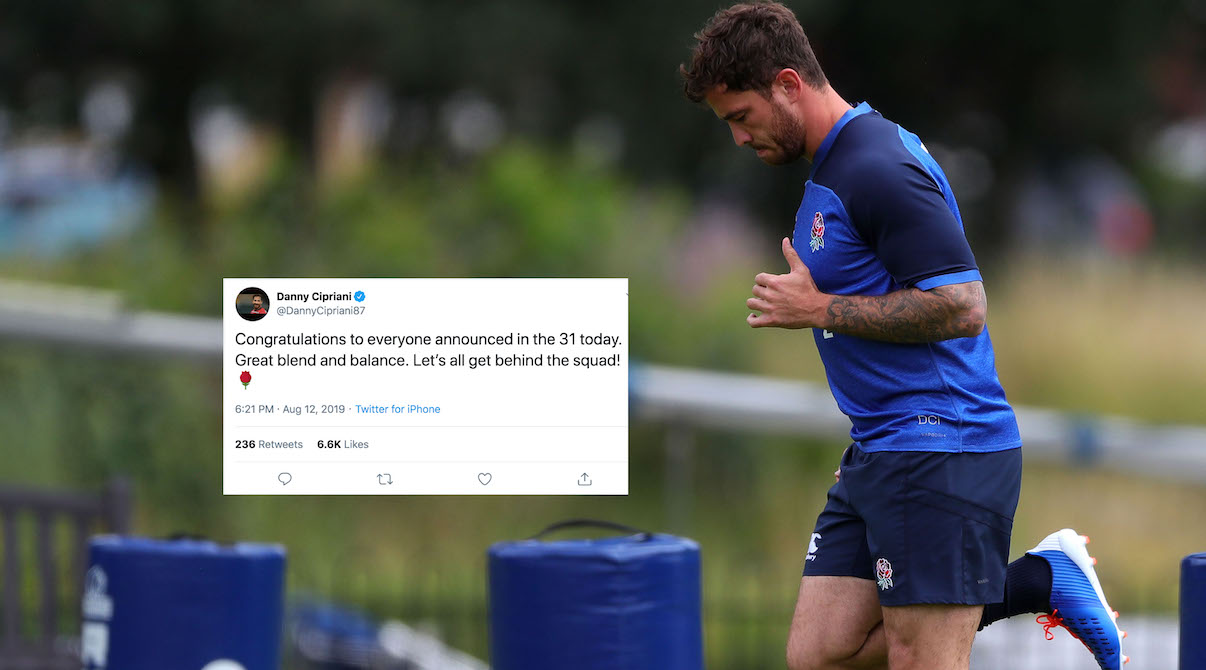 Danny Cipriani sends classy tweet after being left out of Rugby